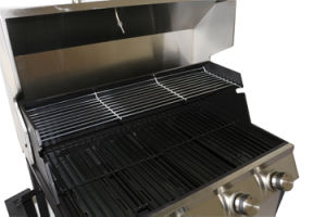 Gas Grill Foldable Side Shelves 4-Burner BBQ pictures & photos