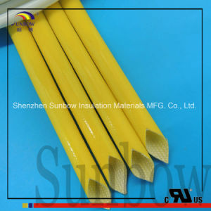 4000V Silicone Rubber Fiberglass Sleeving Heat Resistant Fiberglass Sleeving pictures & photos
