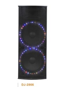 Professional Active Speaker with Acoustic Control LED Light on Woofer Speakers (DJ-2866)