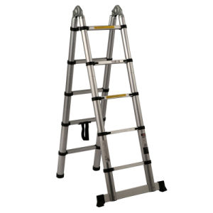Aluminum Telescopic Ladder with Hinge pictures & photos