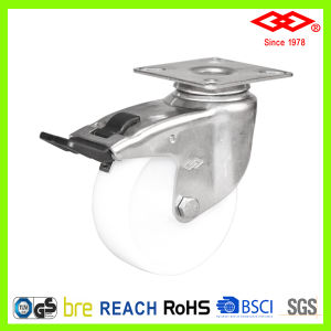 125mm Stailess Steel PP Swivel Braked Caster Wheel (P114-30C125X26S) pictures & photos