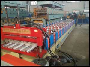 Trapezoidal Profile and Ibr Steel Roll Forming Machine for Roofing Sheet pictures & photos