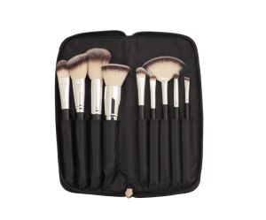 9PCS Nylon Hair Makeup Brush with Stone Pattern Zipper Bag pictures & photos