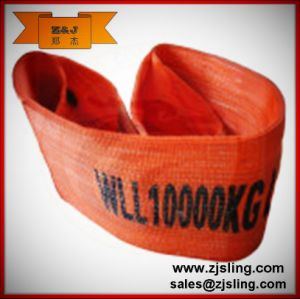 10t High Break Strength Solid Flat Polyester Webbing Sling 10t X 2m (customized) pictures & photos