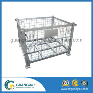 Folding Wire Mesh Container Cage for Warehouse pictures & photos