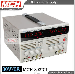 60W 30V 2A Variable DC Power Supply, Direct Current Power Supply, Dual Channel DC Power Supply with CE & RoHS (MCH-302DII)