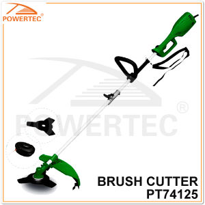 Powertec 1000W 350mm Electric Brush Cutter with Metal Blade (PT74125) pictures & photos