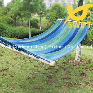 Outdoor Stripe Canvas Hammock with Spread Rod pictures & photos