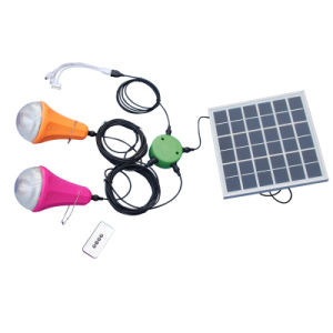 New Solar Product Solar Power System Home Lighting Kit with USB Charger Cable pictures & photos