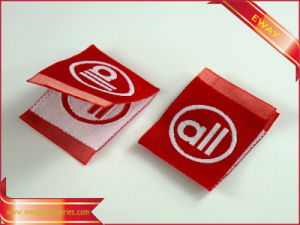 High Quality Satin Woven Label Clothing Fabric Label pictures & photos
