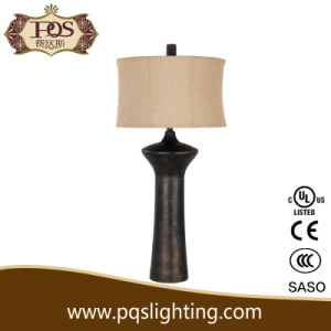 Black Polyresin Design Italian Table Lamp (P0033TA)