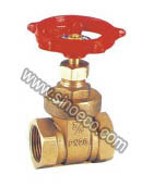 Brass Equal Thread Non Rising Stem Gate Valve pictures & photos