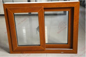 Classical Woodengrain PVC Sliding Window (BHP-SW12) pictures & photos