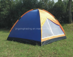 190t Double-Skin 100% Polyester Camping Tent for 3 Persons (JX-CT004) pictures & photos