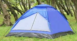 Waterproof 100% Polyester Single-Skin Camping Tent for 4 Persons (JX-CT018) pictures & photos