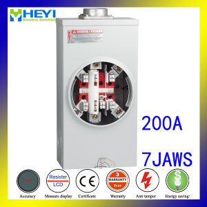 ANSI Meter Socket Three Phase Resident House Building 200A 7jaws pictures & photos