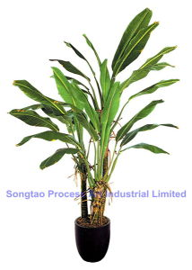 Bananier artificiel d 39 usine de bonzaies d 39 unit centrale for Plante decorative exterieure