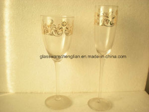 Hand Made Decorated Wine Glass (HYB-07) pictures & photos