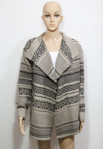 Lady Fashion Acrylic Knitted Cardigan Sweater (YKY2006) pictures & photos