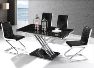 Modern Luxurious Chrome Steel Foot PU Leather Dining Chair (NK-DC085) pictures & photos