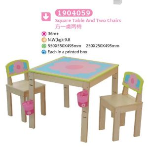 Square Playing Table and Two Chairs Children Furniture Kids Furniture pictures & photos
