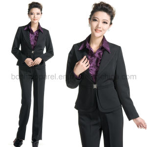Fashion Ladies′ Formal Suit with Coat and Pants (LSU08) pictures & photos