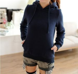Hot Selling Women Custom Cotton Fashion Hoodies pictures & photos
