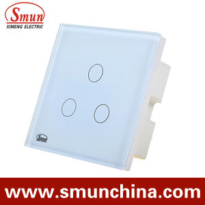 3 Gang Touch Wall Switch, Remote Control Wall Socket 1500W 110-220V 16A pictures & photos