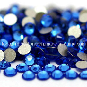 3A Luxury Sapphire Flat Back Non Hotfix Crystal Rhinestone for Nail (FB-SS20 capri blue) pictures & photos