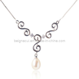 925 Silver Freshwater Peal Necklace pictures & photos