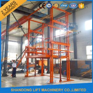 2017 New Design Goods Lift Vertical Hydraulic Guide Rail Lift pictures & photos