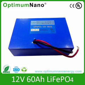 Rechargeable 12V 60ah Solar LiFePO4 Battery pictures & photos