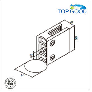 Topgood Stainless Steel Square Glass Clamp for Glass Railing System (80100) pictures & photos