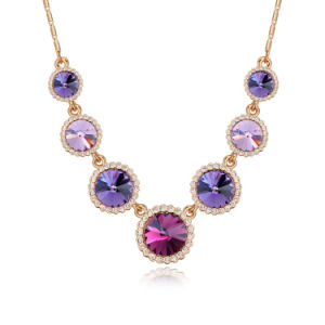 Colorful Crystal Alloy Women Zircon Necklace