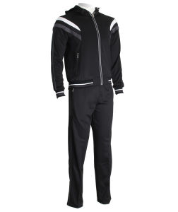 Custom Cotton Polyester Mens Sportswear Slim Fit Plain Training Tracksuit pictures & photos