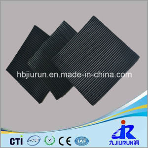 Black Fine Ribbed Anti-Slip Rubber Sheet for Floor pictures & photos