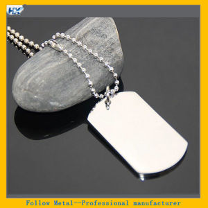 60cm 24 Inches Ball Chain Necklace High Polished Stainless Steel Name Military Metal Tag Dog Tag