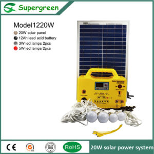 20W Solar Panel 12V Battery Outdoors Use Solar System pictures & photos