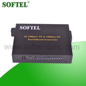 100Mbps RJ45 to 1000m Single-Mode Sc Fiber Media Converter pictures & photos