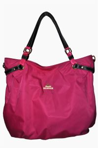 Ladies Nylon with Cow Leather Handbag (BS13007)