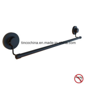 Towel Rail with Suction Cup, Matt Black, Steel