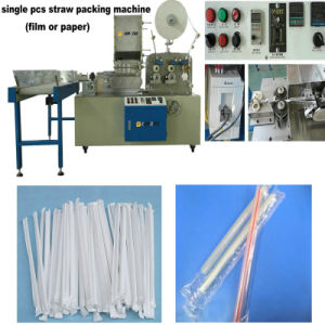 (Plastic Film) Single Straw Packing Machine pictures & photos