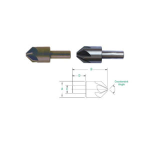 6-Flute Countersinks HSS Cobalt Carbide