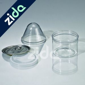 Pet Plastic Cylinder Container Plastic Tin Can for Medicine and Food pictures & photos