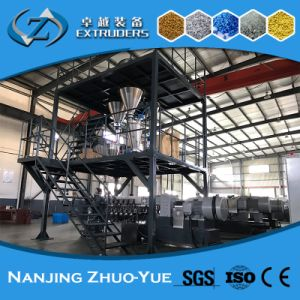 Twin Screw Plastic Granules/Masterbatch Extruder Machine pictures & photos