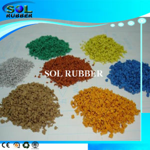 Colorful Sport Flooring Surface EPDM Granules Rubber Granules pictures & photos