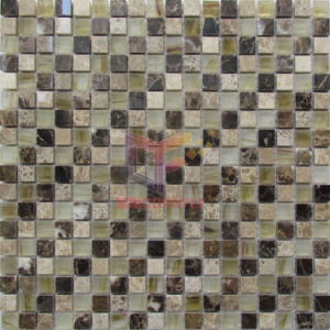 Dark Emperador Marble Mosaic Tiles, Glass Mosaic (CFS1015) pictures & photos