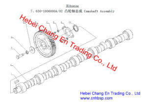 Engine Part Camshaft Assembly Yc6j190-20 for Chang an Bus Sc6910 pictures & photos
