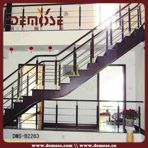 China steel wood wire stairs railing design dms b2263 - Steel stair railing design ...