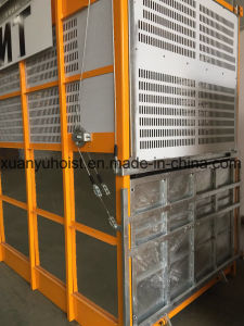 Double Cabins or Cages 0.5-4 Ton High Rise Building Construction Hoist Lift Elevator for Materials with Autocontrol pictures & photos